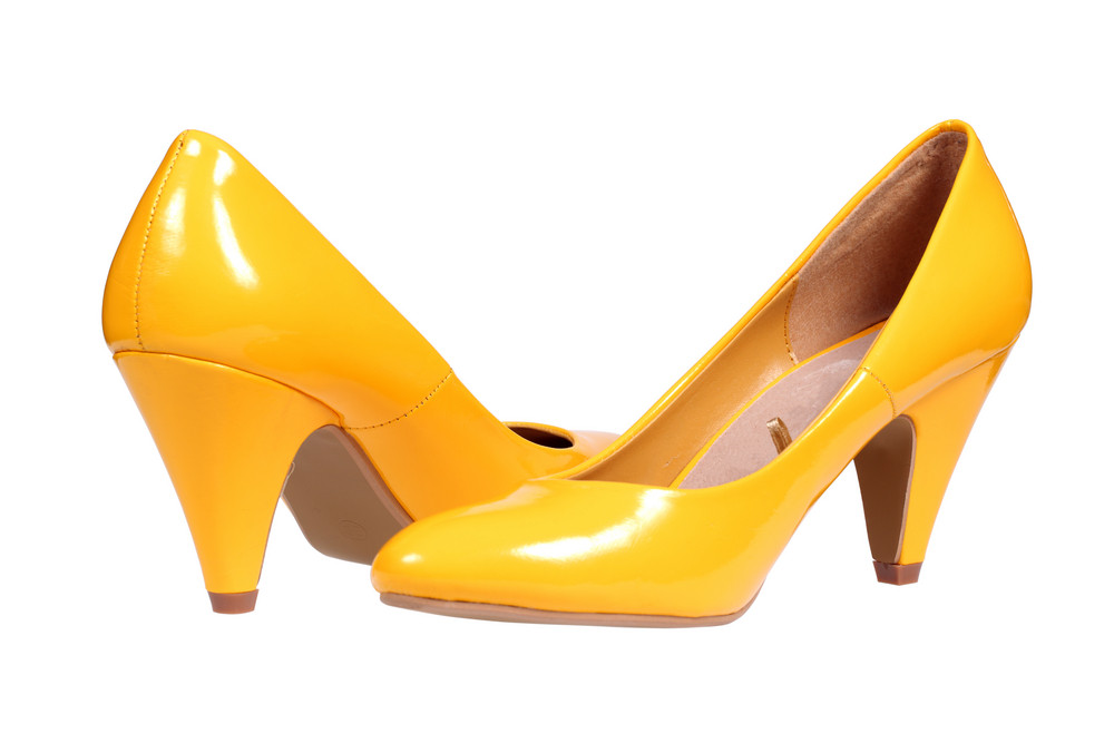 Yellow Women's Heel Shoes