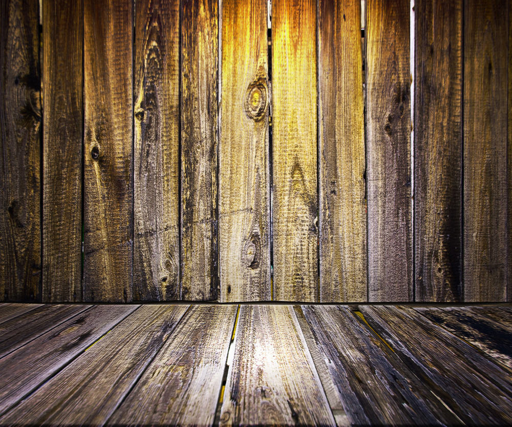 Yellow Wooden Floor Background