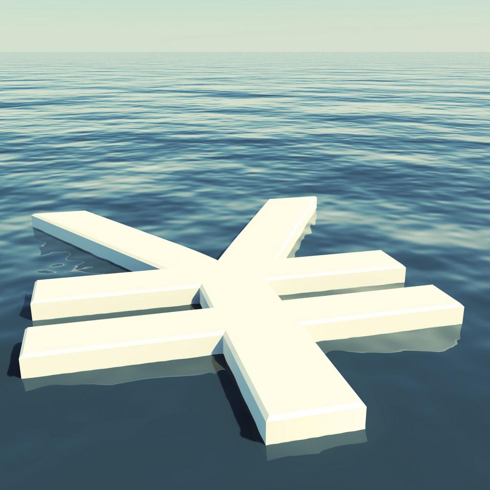 Yen Floating Showing Money Wealth Or Earnings
