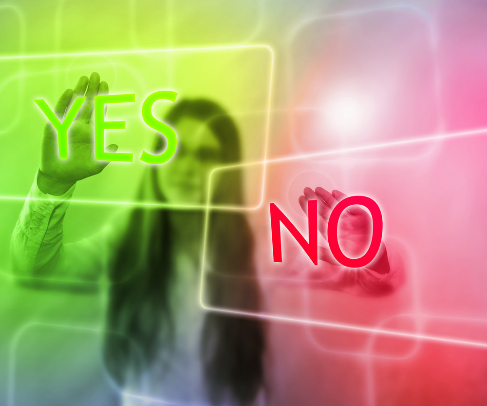Yes Or No On Touch Screen