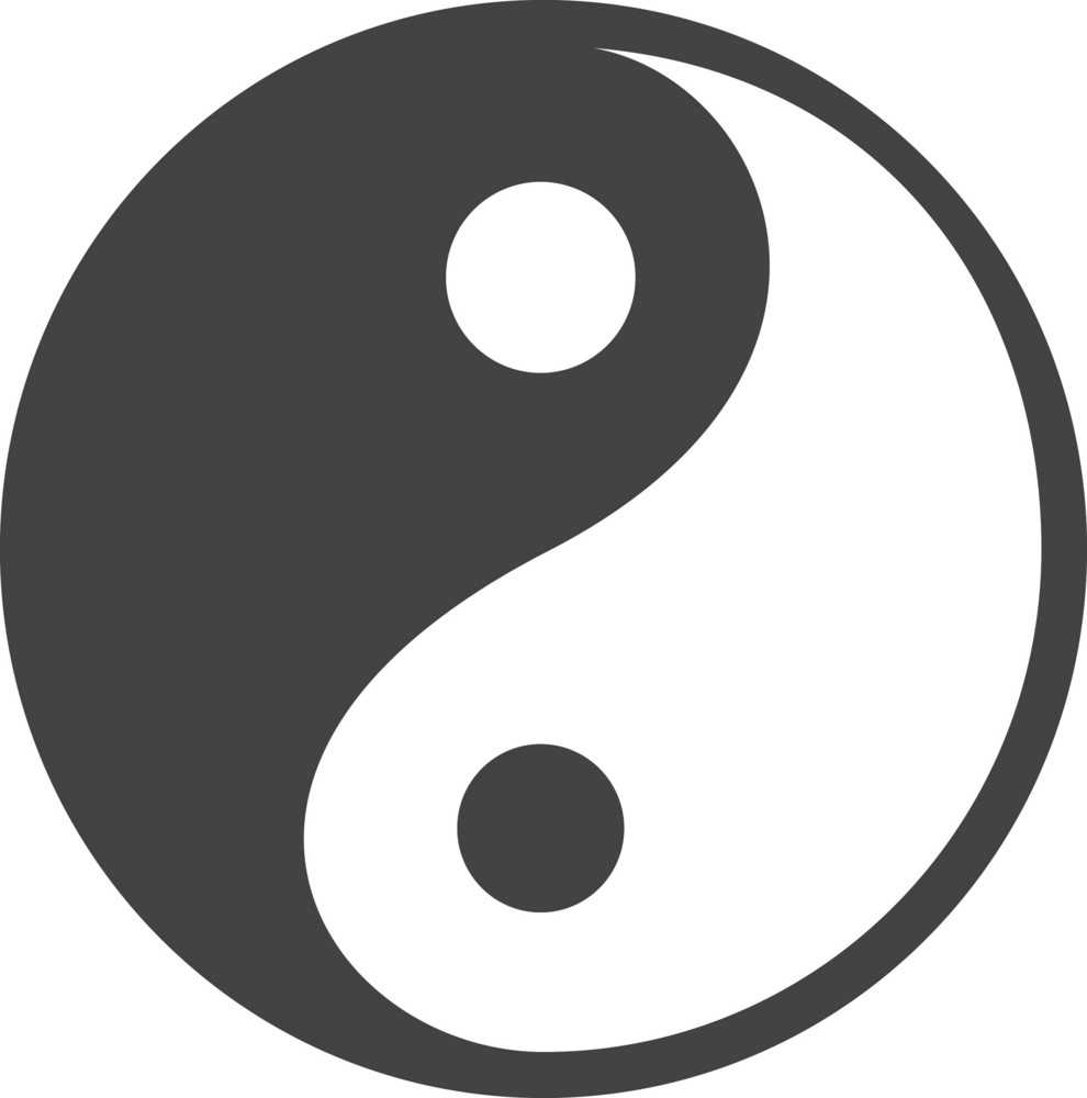 Ying And Yang Glyph Icon