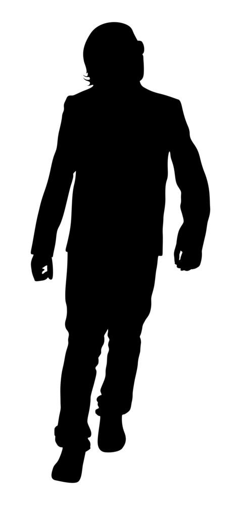 Young Boy Walking Shape