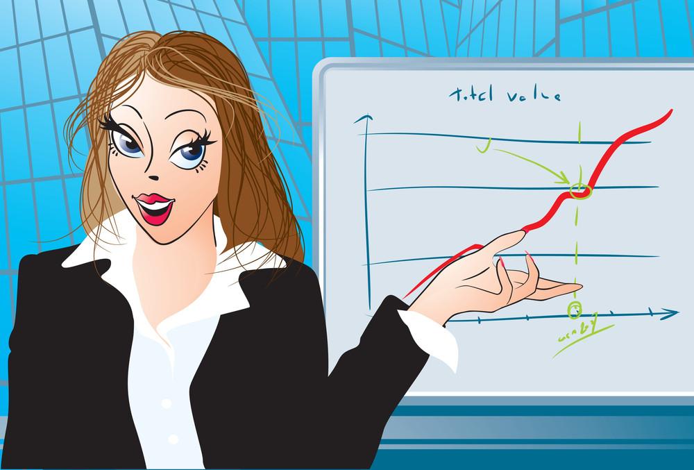 Young Teacher Near Blackboard