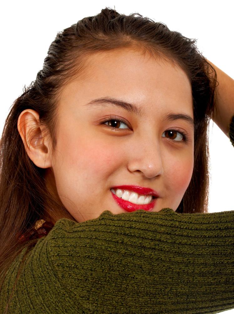 Young Teenager Enjoying Herself