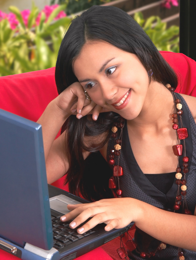 Young Woman Browsing Internet
