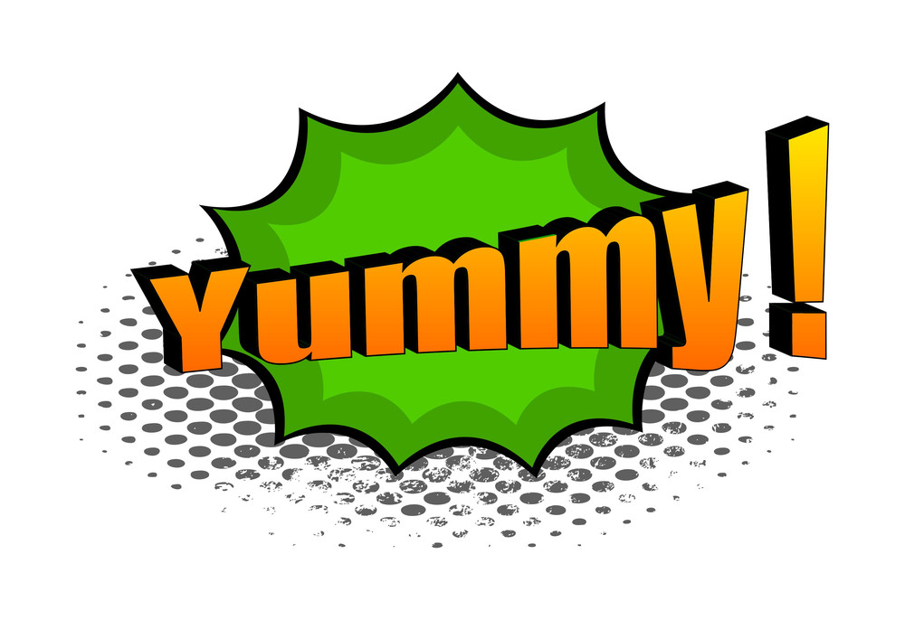 Yummy Retro Graphic Text Banner
