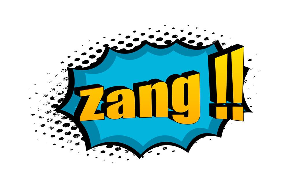 Zang Retro Graphic Text Design