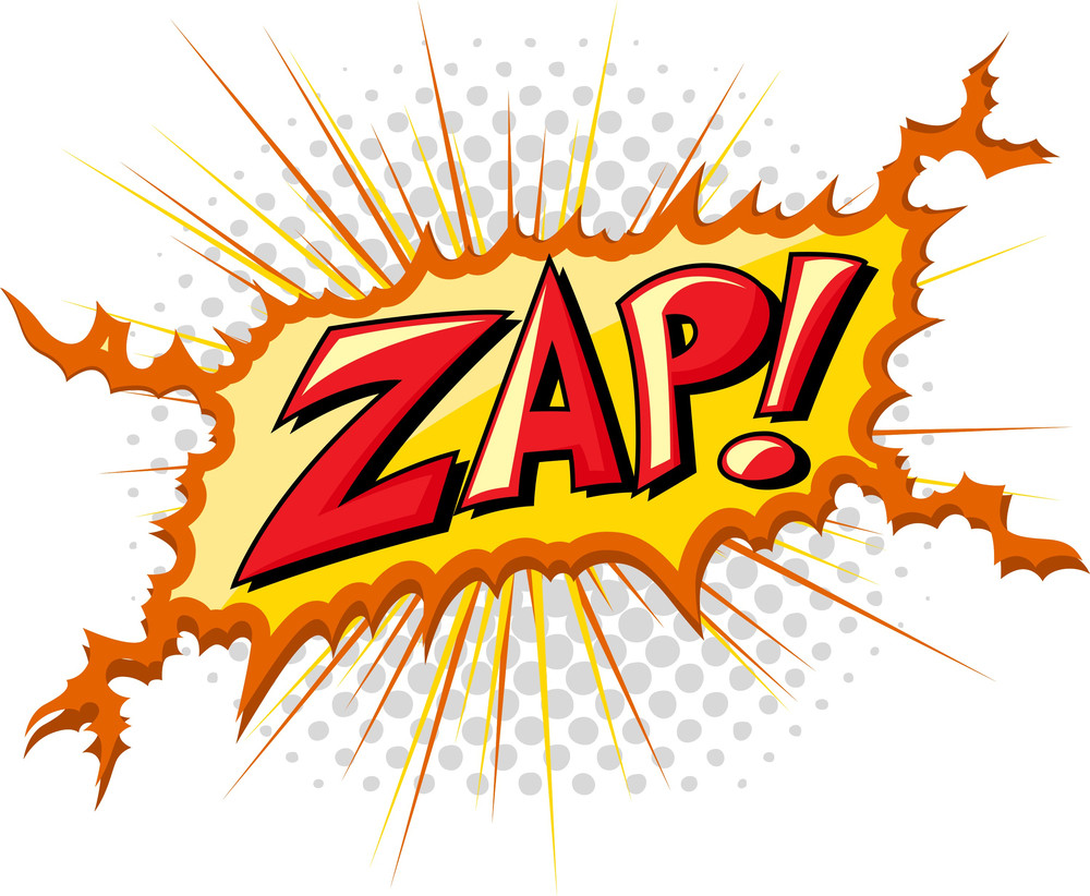 Zap - Comic Expression Vector Text