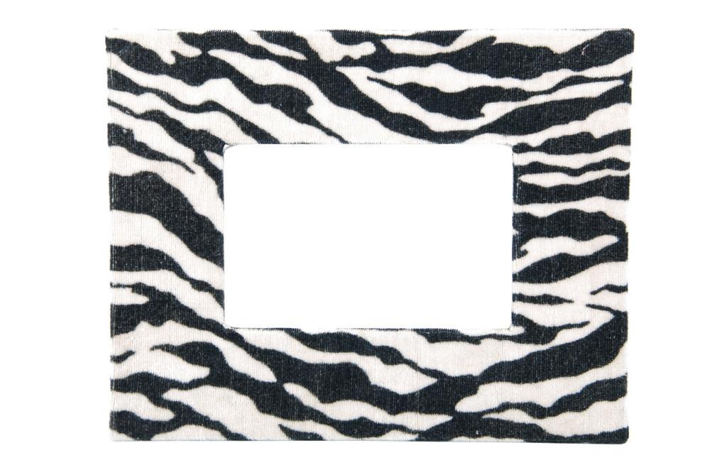 Zebra Pattern Photo-frame On White
