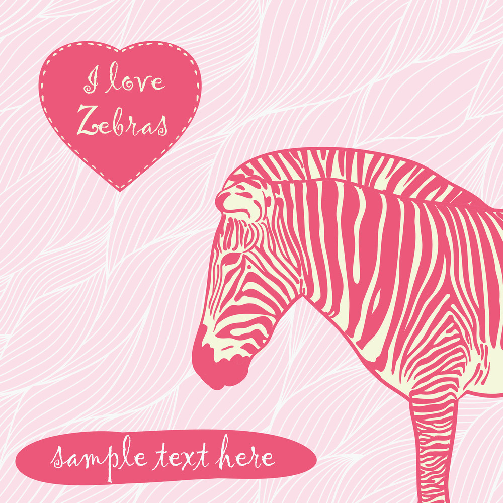 Zebra With Place For Text