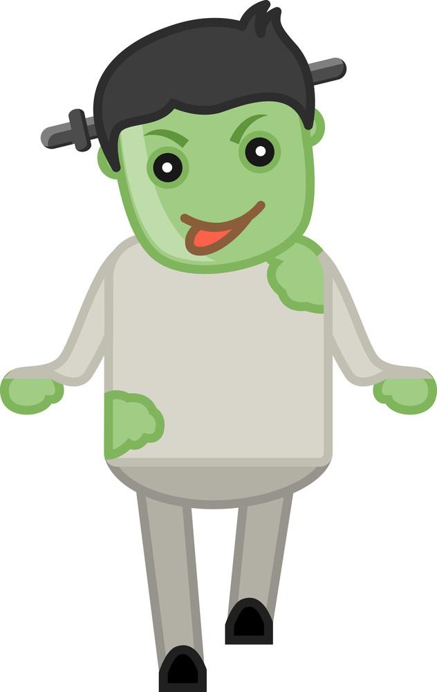 Zombie Costume On Halloween - Cartoon Business Characters