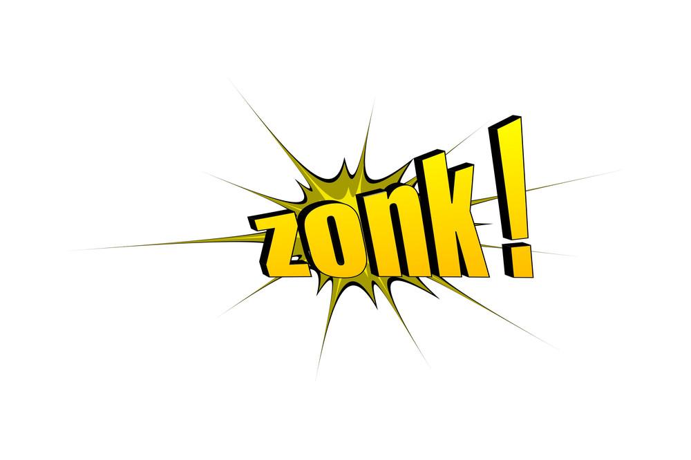 Zonk Retro Text Banner