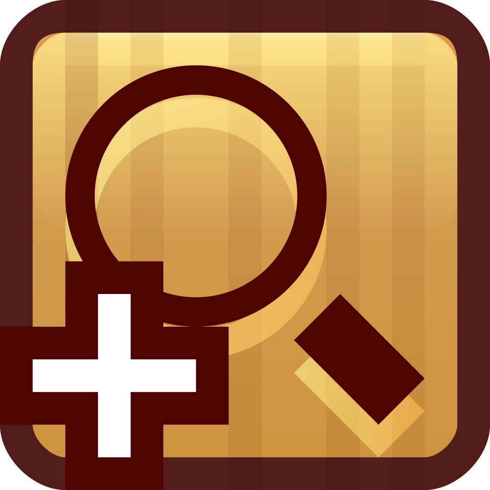 Zoom In Brown Tiny App Icon