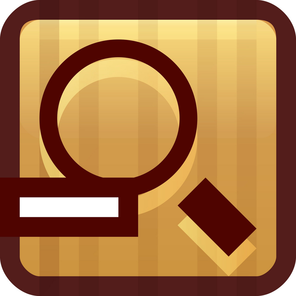 Zoom Out Brown Tiny App Icon