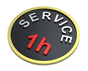 1 Hour Service Sign