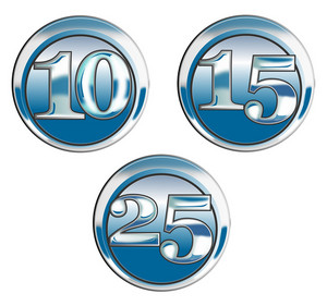10 15 25 In Blue Chrome