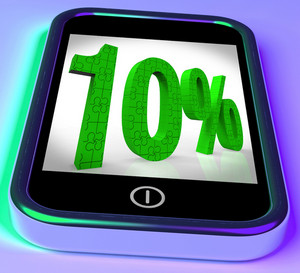 10 On Smartphone Showing Bargains And Reduced Prices