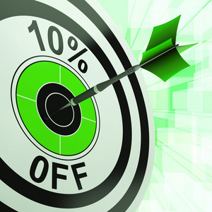 10 Percent Off Shows Discount Promotion Advertisement