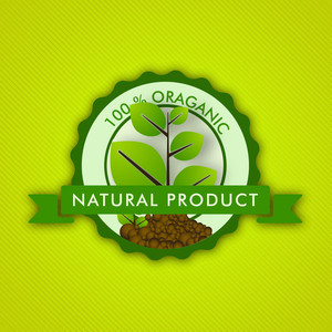 100% Organic Product Badge