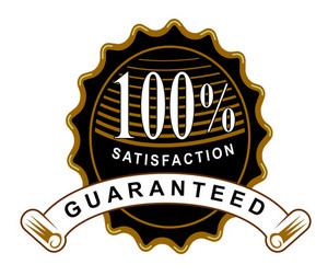 100% Satisfaction Guaranteed Black Seal And Ribbon