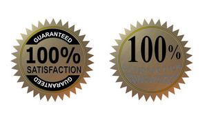 100% Satisfaction Guaranteed Gold Seal