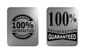100% Satisfaction Guaranteed Gold Square Seal