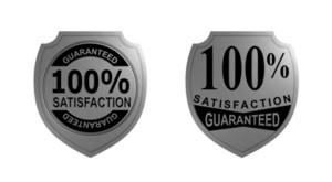100% Satisfaction Guaranteed Silver Seal