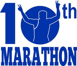 10th Marathon Run Race Runner