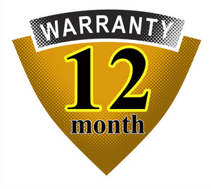 12 Month Warranty Shield And Ribbon