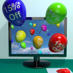 15% Off Balloons From Computer Showing Sale Discount Of Twenty Five Percent Online
