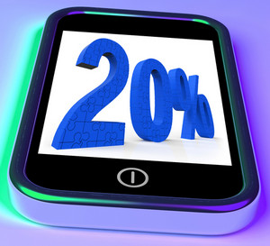 20 On Smartphone Showing Special Promotions And Offers