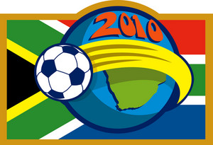 2010 Soccer World Cup Ball Map And Flag Of South Africa