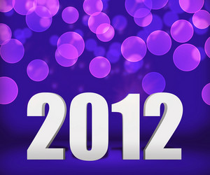 2012 Violet New Year Background Stage