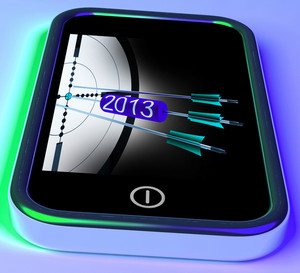 2013 Arrows On Smartphone Showing Future Goals