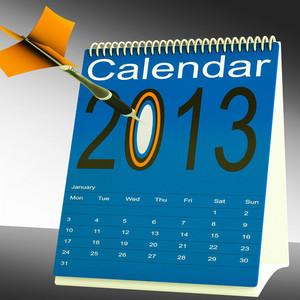 2013 Calendar Target Shows Year Organizer