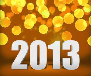 2013 Gold New Year Background Stage