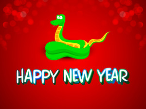 2013 Happy New Year Background With Snake Design.