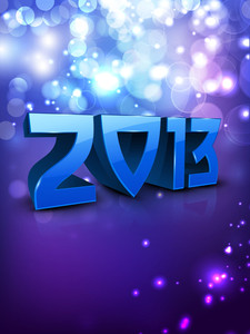 2013 Happy New Year Background