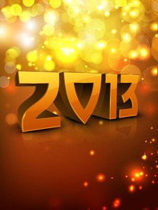 2013 Happy New Year Greeting Card