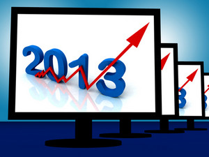 2013 On Monitors Shows Monetary Increase And Forecasting