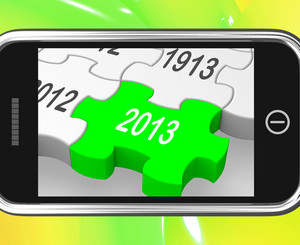 2013 On Smartphone Shows Next Year's Calendar