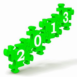2013 Puzzle Showing Future And Forecast