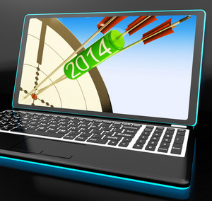 2014 Arrows On Laptop Showing Festivities