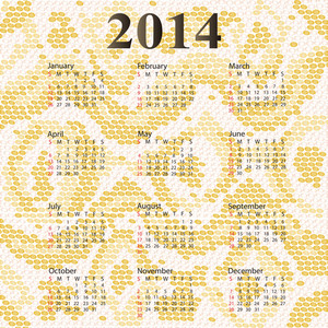 2014 Calendar Albino Snake Skin