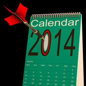 2014 Calendar Shows Business Schedule And Plan