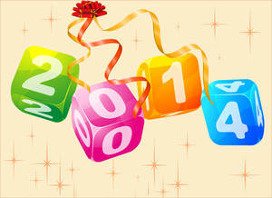2014, Glossy Transparent Cubes. Vector.