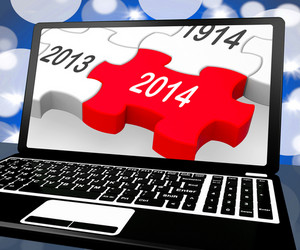 2014 On Laptop Shows Near Future Technology