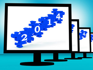 2014 On Monitors Shows Future Calendar