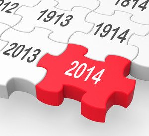 2014 Puzzle Piece Shows New Year's Resolutions