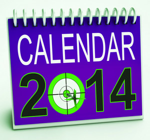 2014 Schedule Calendar Means Future Business Targets
